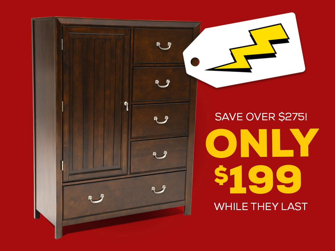 Mayfield door chest only while supplies last bob mills for Furniture lubbock